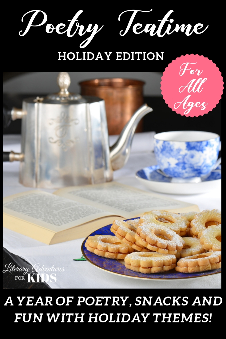 Poetry Teatime: Holiday Edition combined with Music Lessons for Holidays & Special Days is the perfect way to celebrate the holidays in your homeschool or classroom. You and your kids will love these fun lessons! All the work is done for you. #poetryteatime #holidaylearning #holidayfun #musiclessonsforkids