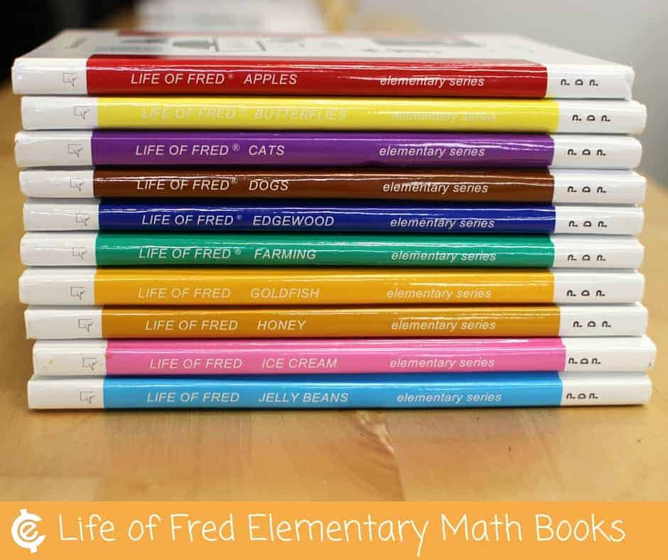 Unexpected Lessons from the Life of Fred Math Books Stack of Books