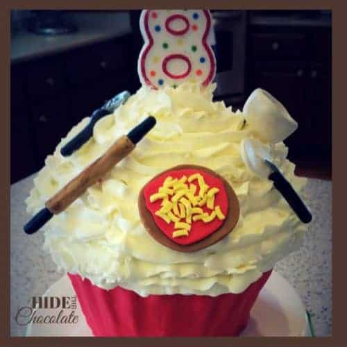 Pizza Party - Cupcake Cake