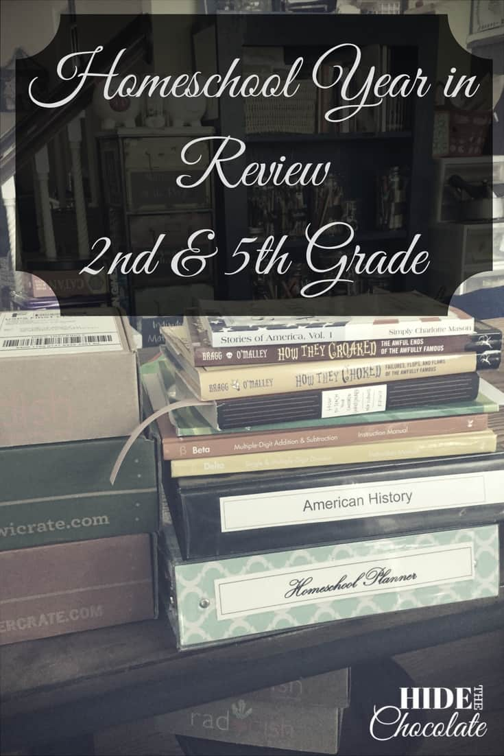 This year I learned to let go of following a strict schedule & let the learning come naturally. This is our Homeschool Year in Review for 2nd and 5th grade.
