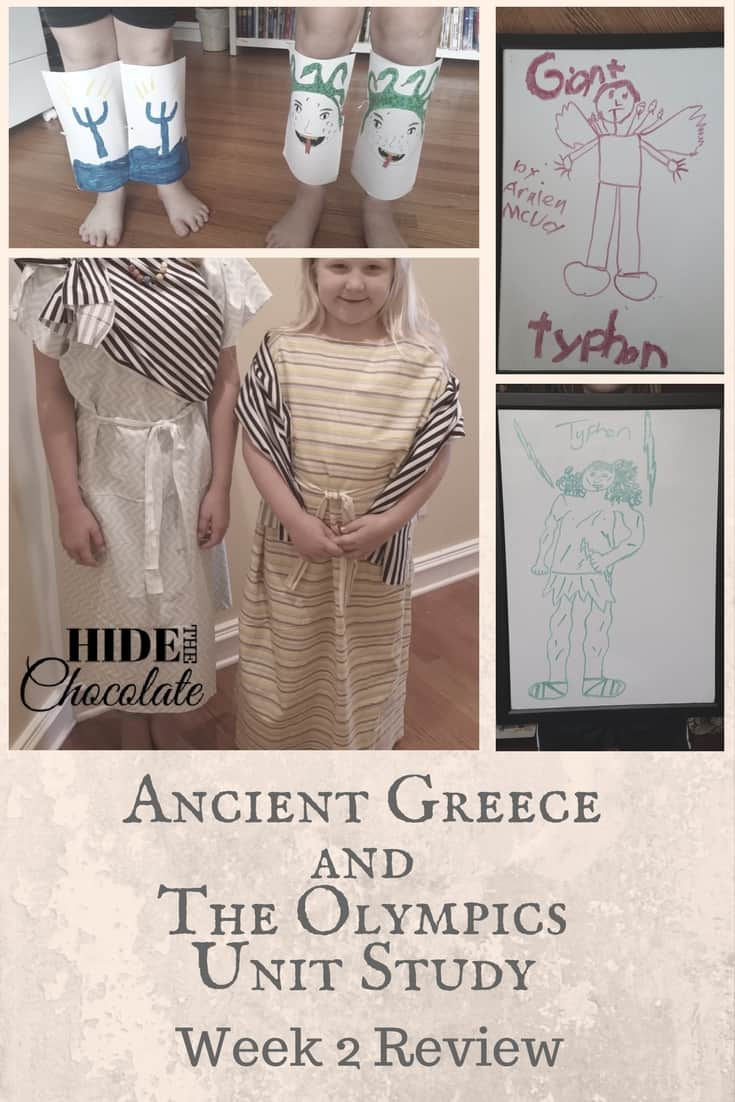 Ancient Greece and Olympic Unit Study Week 2 PIN