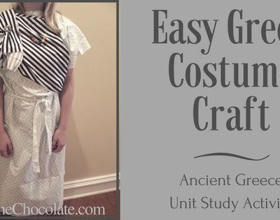 How to Create an Easy Greek Costume ~ Chiton and Himation