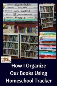 How I Organize Our Books Using Homeschool Tracker