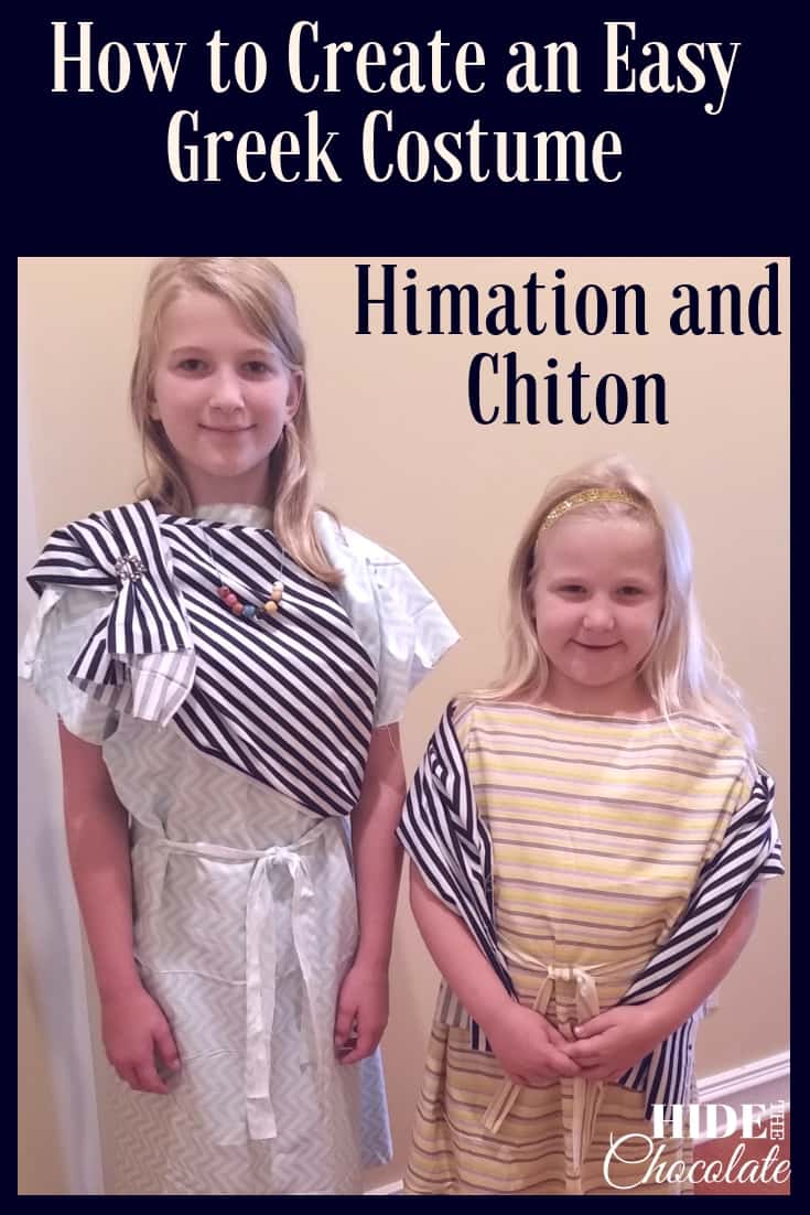 How to Create an Easy Greek Costume ~ Chiton and Himation PIN