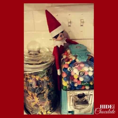 Elf Between Gumballs