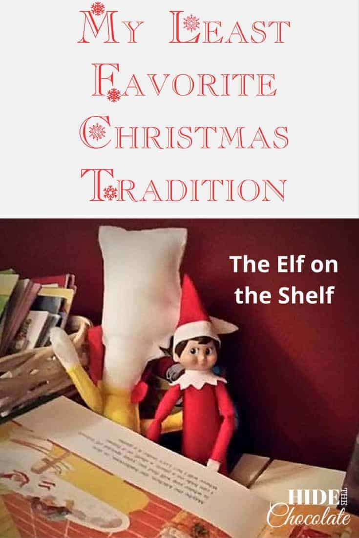 The #ElfOnTheShelf is my least favorite #ChristmasTradition. I will forever think horrible thoughts of the family who introduced my children to the insanity of the elf. I'm not even sure why my children have such high hopes for this mysterious, ever-watchful, spying little creature. I guess it could be that their hopes for the tooth fairy have fallen short. The tooth fairy frequently drops their tooth money on the floor (way under the bed where only Mom can reach it), or she can't make it because their teenage brother stays up too late and she can't sneak in the house. So, my kids are desperate for a fairy (even if he's an elf) to bring pixie dust trails of magic to their home. But, alas, the elf is not much better than that silly tooth fairy. #Christmas