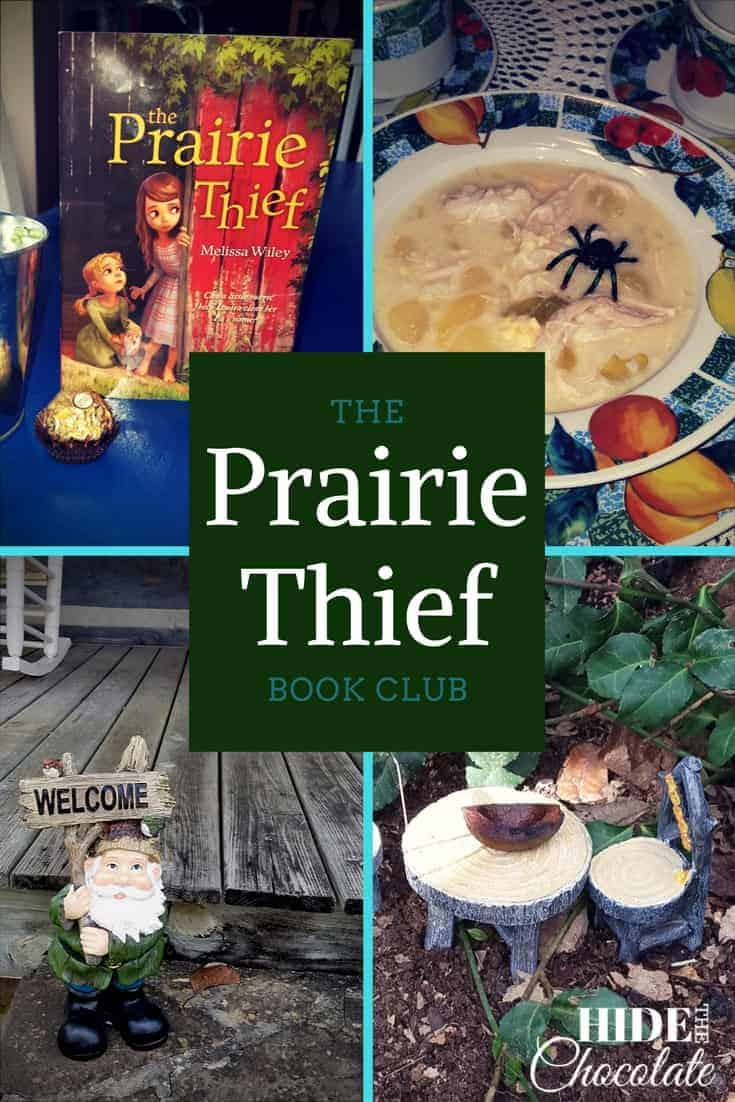 A gnome-like Brownie, a chocolate brownie, a hunt for stolen treasures and spider-laden soup were all part of this month's party school, The Prairie Thief Book Club. #homeschooling