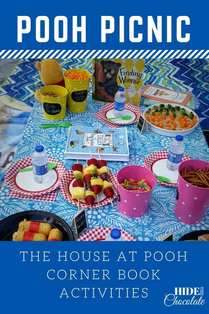 Wooded forests, bubbling streams and Pooh Sticks -- what more could you want for a celebration of The House at Pooh Corner? How about a Pooh Picnic complete with honey snacks and Pooh Twinkies? #homeschooling