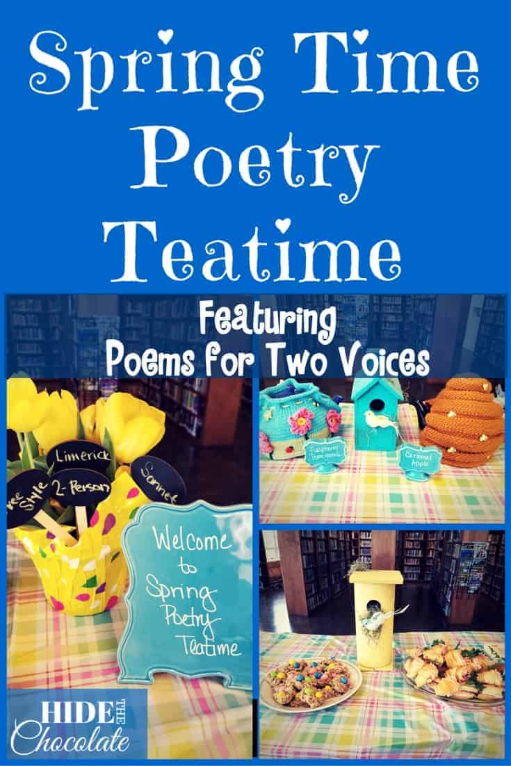 Spring Time Poetry Teatime ~ Featuring Poems for Two Voices