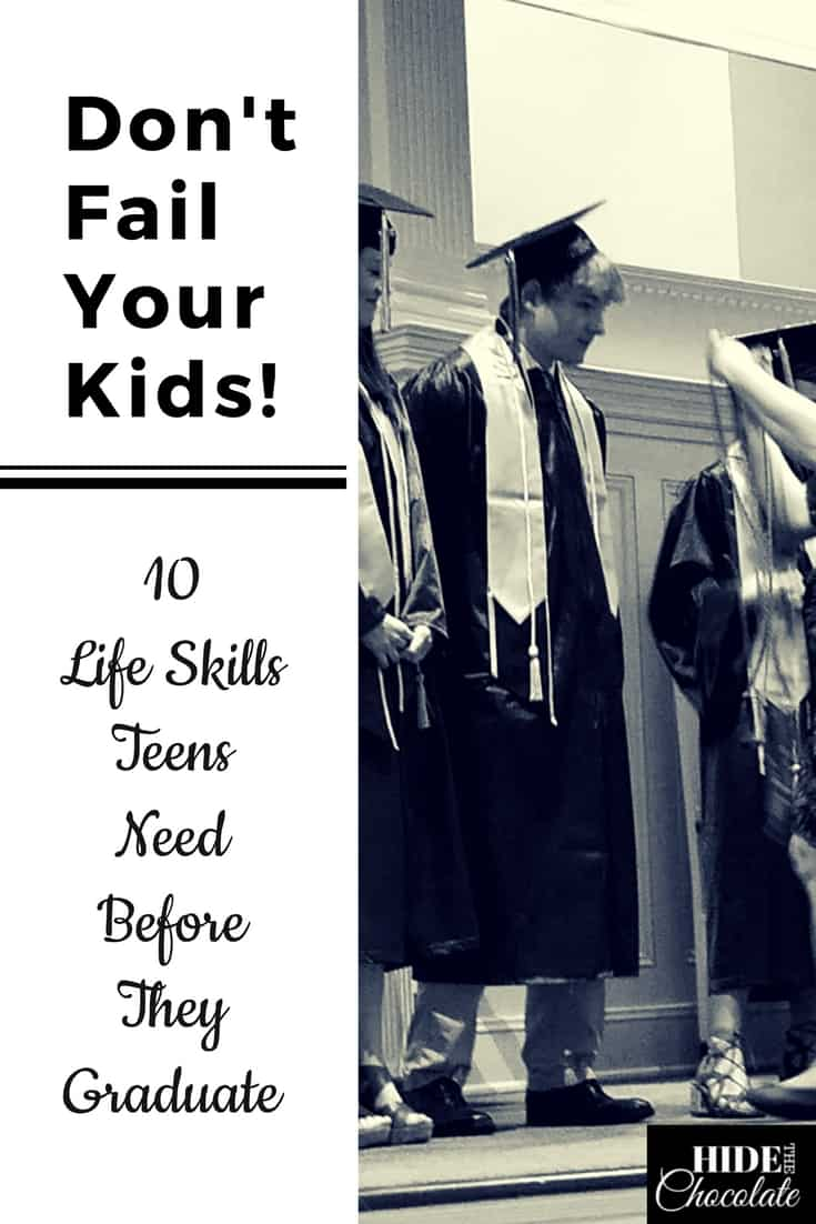 Don't fail your kids like we almost failed our son! Here are 10 life skills for teens who will soon have to navigate the world without their parents. #homeschool #lifeskills