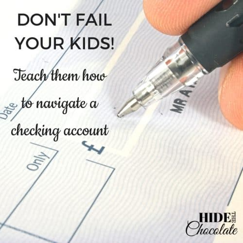 Don't fail the kids- Teach them how to navigate a checking account
