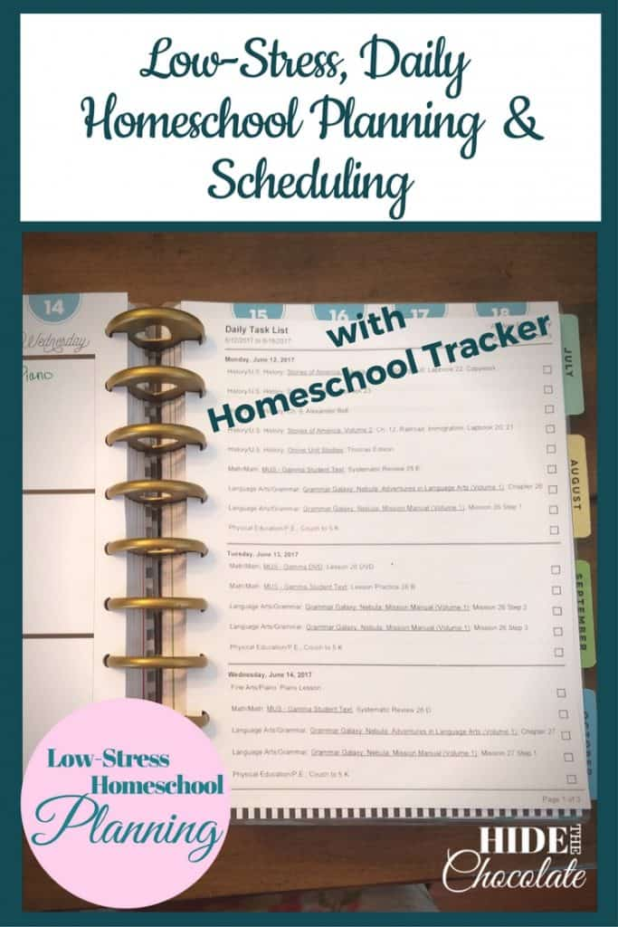 Low-Stress, Daily Homeschool Planning & Scheduling with Homeschool Tracker