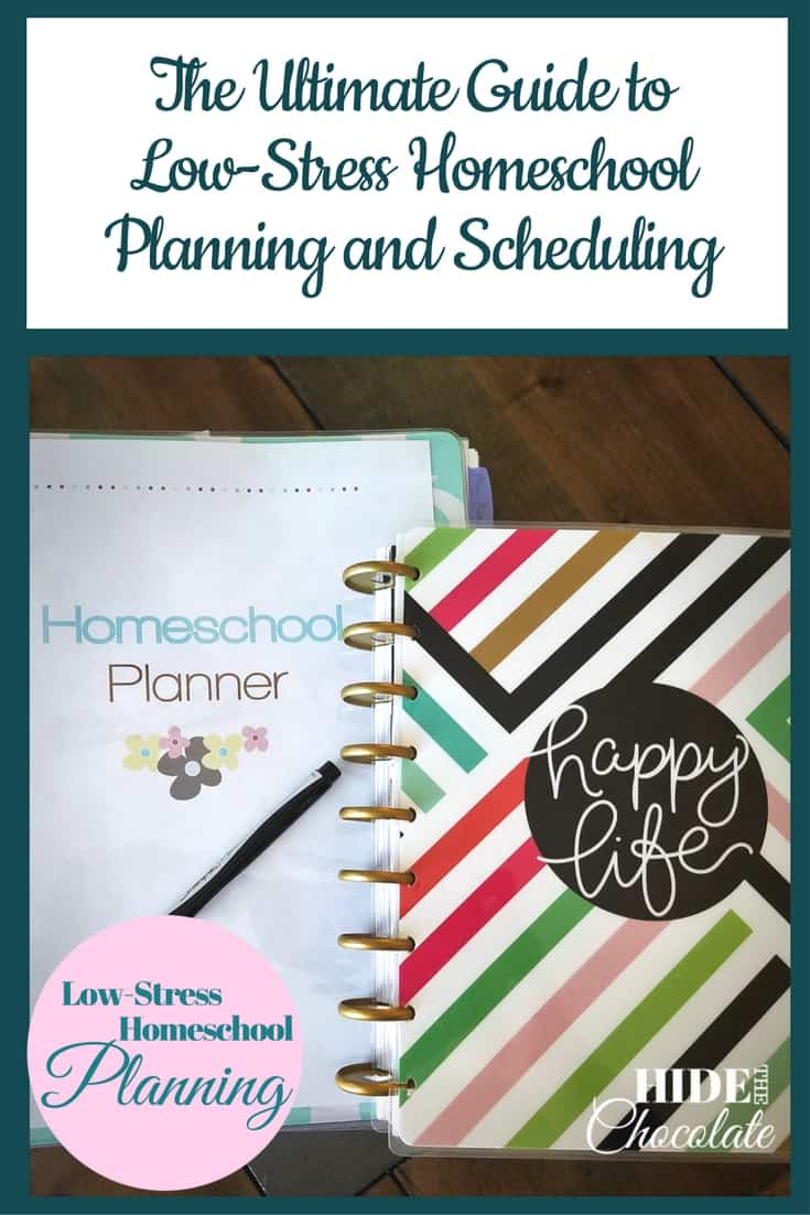The Ultimate Guide to Low-Stress Homeschool Planning and Scheduling ~ Does planning stress you out? I\'ve scoured the planning universe to find the best advice for low-stress homeschoolplanning and scheduling.