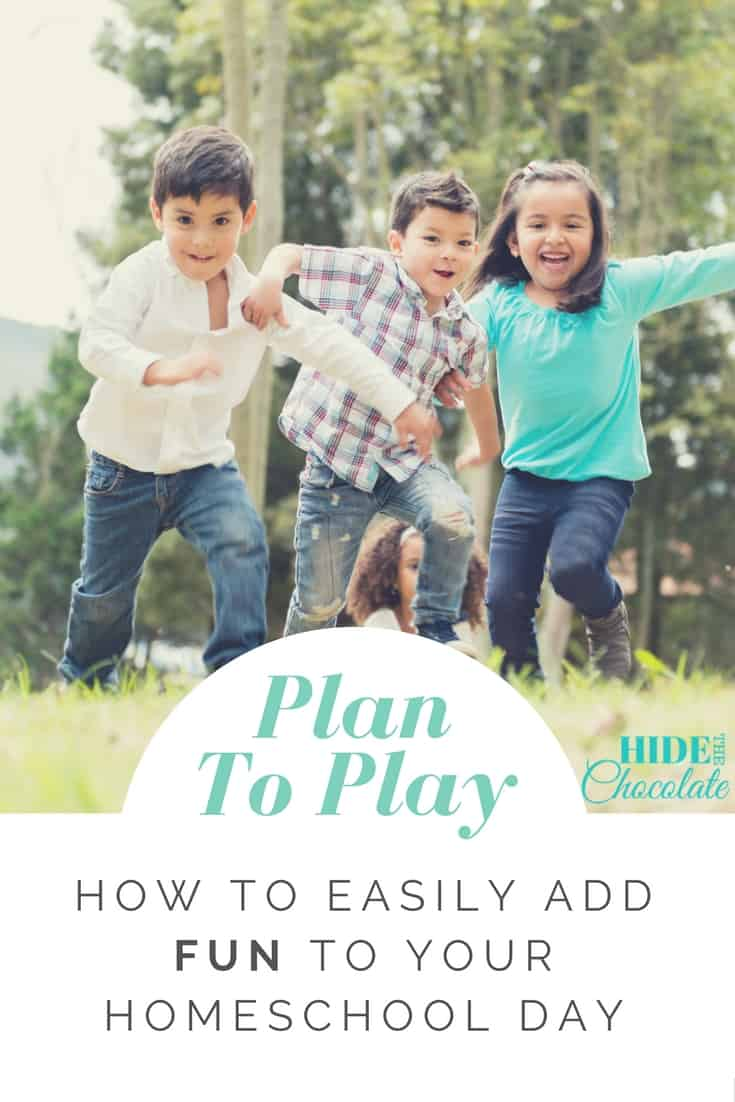 It's not so easy to come up with spontaneous fun. Over the years I've realized that to add more fun to our #homeschool day, I needed to make a plan to play.