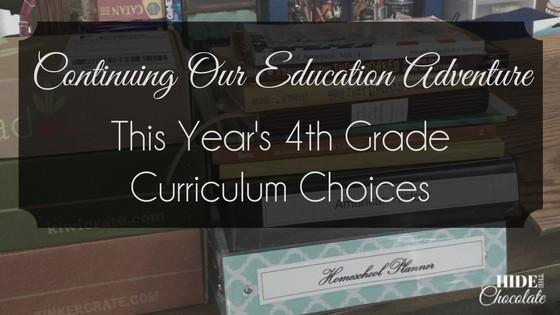 This Year's 4th Grade Curriculum Choices