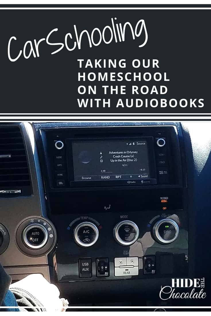 Because we spend so much time in the car, I started saying we were CarSchooling some days. Thanks to #audiobooks we can keep from getting behind in our #homeschool studies.