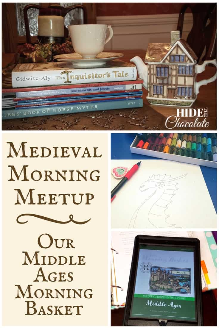 Since our together time is in the mornings, we're incorporating our medieval studies into our Morning Meetup for a Middle Ages Morning Basket. #homeschooling