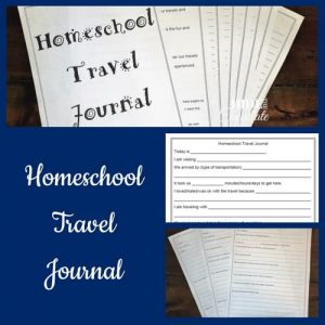 Homeschool Travel Journal Printable