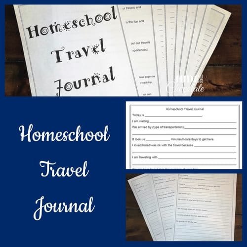 Homeschool Travel Journal Printable