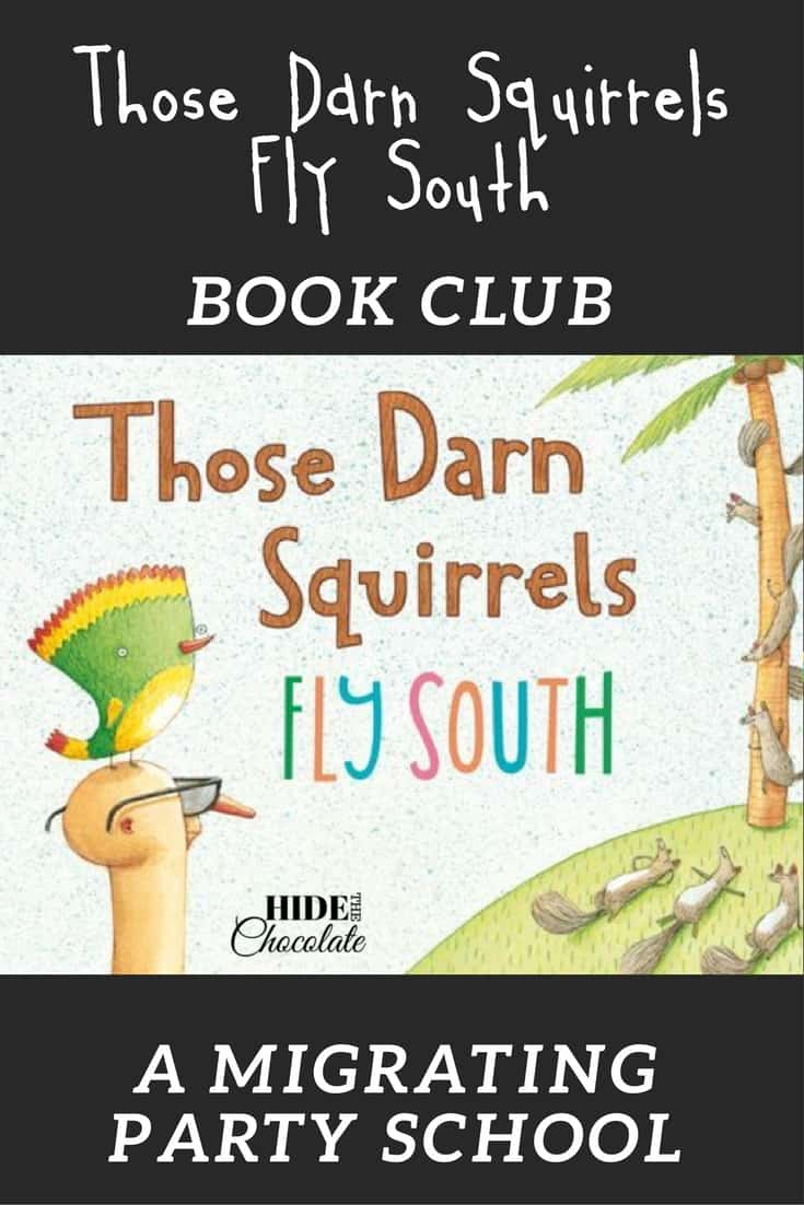 Reading this humorous picture book was the catalyst for a Mexican fiesta, snow fort building, and painting watercolors while learning about migration. Those Darn Squirrels Fly South Book Club was our first mini party school and it was a hit!  #homeschool #bookclub #thenaturebookclub