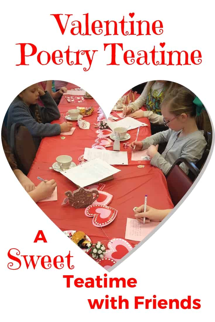 Shel Silverstein poems, Valentine tea cozies, giant helium hearts, heart-shaped donuts and poetry free-writes made this Valentine Poetry Teatime a \