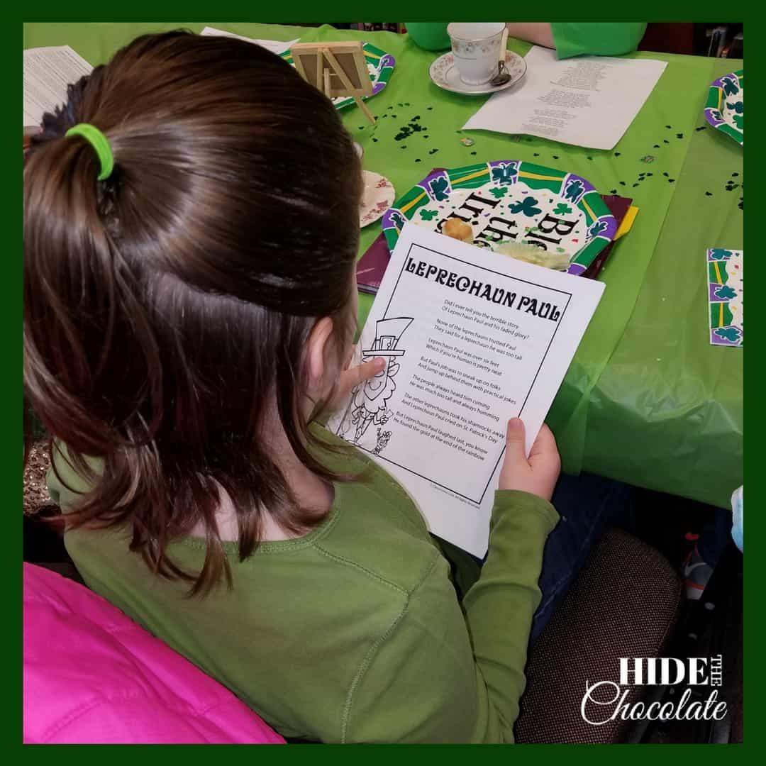 St. Patrick's Day Poetry Teatime Poetry Poem