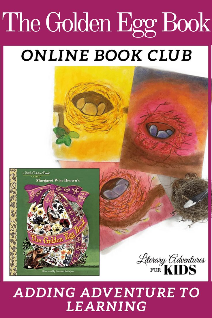 In the nature mini-course, The Golden Egg Book Online Book Club for Kids, we will read the book The Golden Egg Book by Margaret Wise Brown. As we are reading, we will go on rabbit trails of discovery about rabbits, eggs, ducks and more. We will find ways to learn by experiencing parts of the book through art, cooking, and conservation.  #homeschooling #bookclub