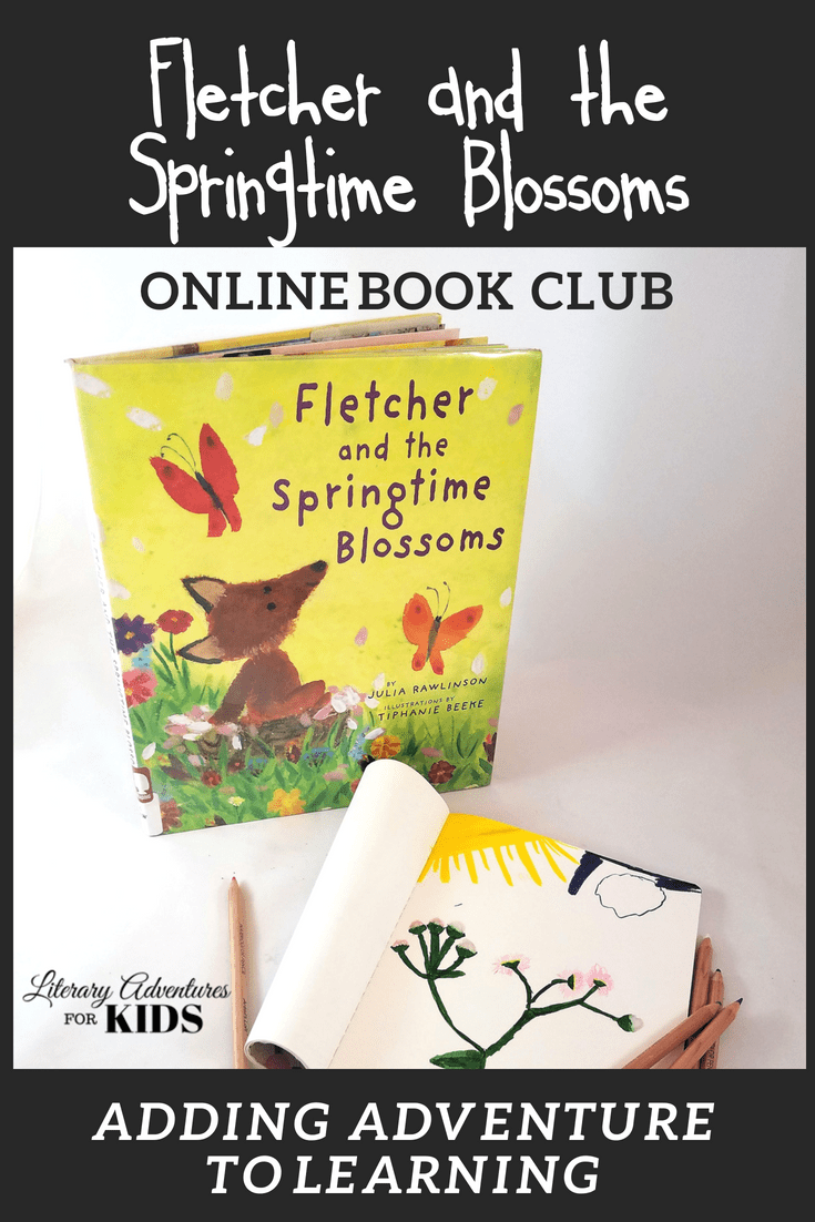 In the nature mini-course, Fletcher and the Springtime Blossoms Online Book Club for Kids, we will read the book Fletcher and the Springtime Blossoms by Julia Rawlinson. As we are reading, we will go on rabbit trails of discovery about foxes, wildflowers, and more. We will find ways to learn by experiencing parts of the book through art, crafts, and outdoor adventures.  #homeschooling #bookclub