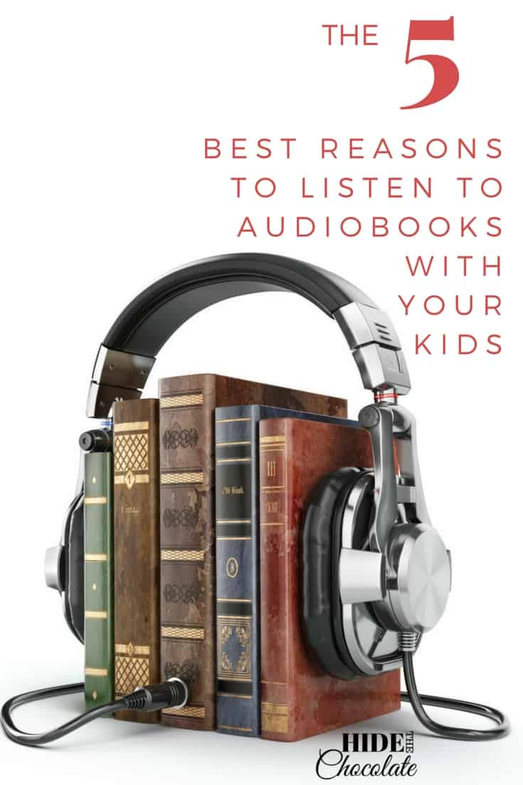 The Five Best Reasons to Listen to Audiobooks with Your Kids ~ Do you enjoy the smell and feel of crisp paper as you snuggle up on the couch to read or do you prefer to listen to #audiobooks while making dinner? It seems that as technology keeps developing new reading products, those of us who love #books will just have more options to feed our habit. #bookclub #techiehomeschool