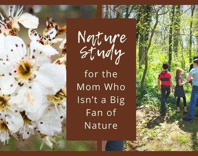 Nature Study for the Mom Who Isn't a Big Fan of Nature