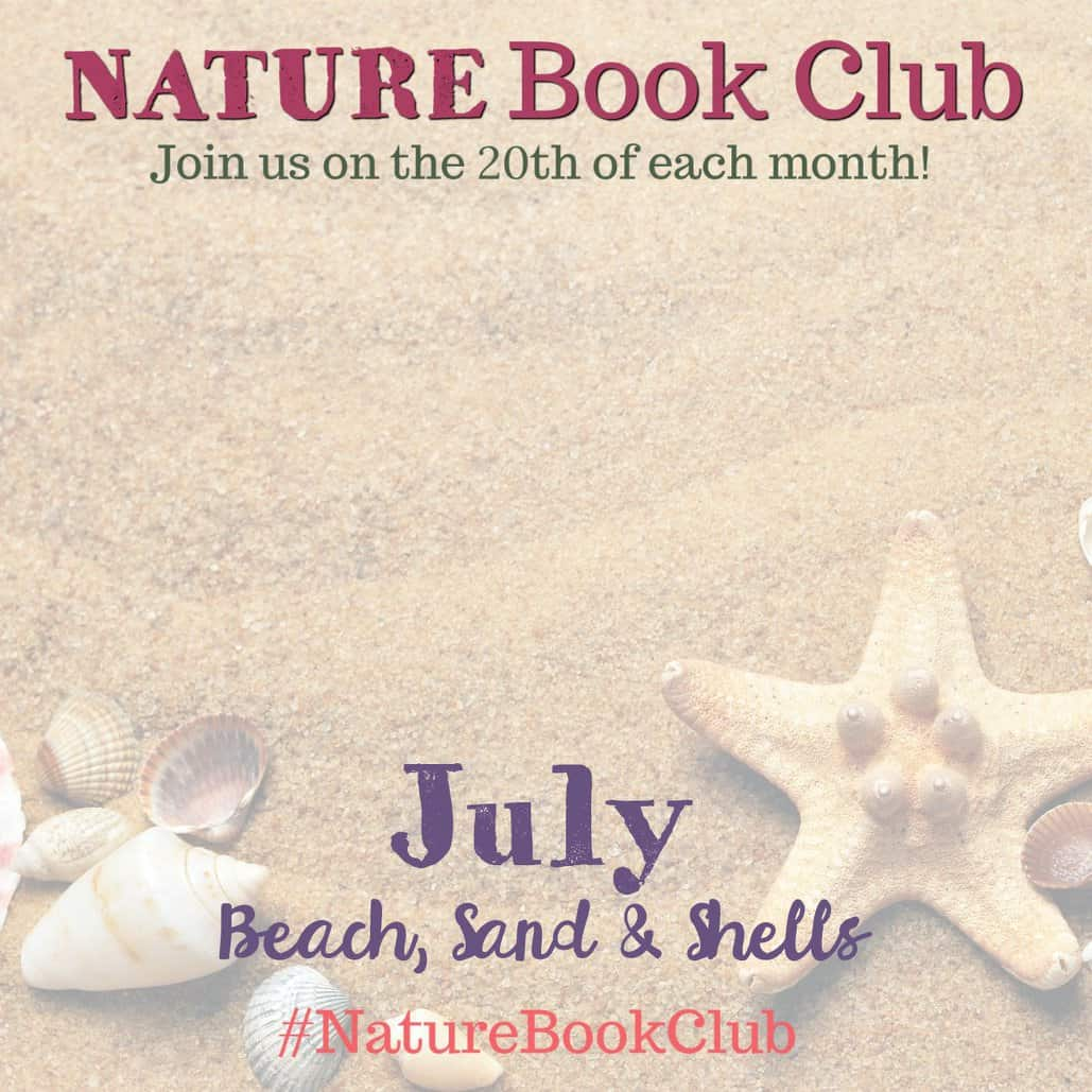 Nature Book Club Blog Hop - July Beach Sand and Shells