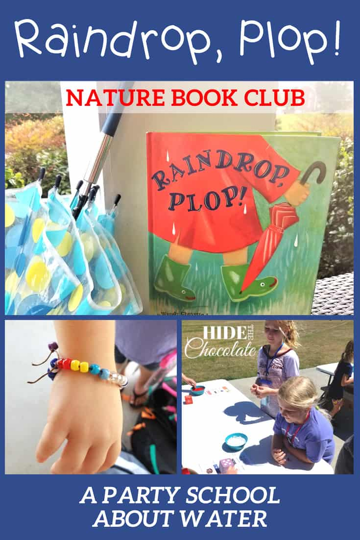 Making cool beaded bracelets while learning about the weather cycle was part of the fun of our Raindrop, Plop! Nature Book Club. #onlinebookclub #naturebookclub #la4k #ihsnet #homeschool