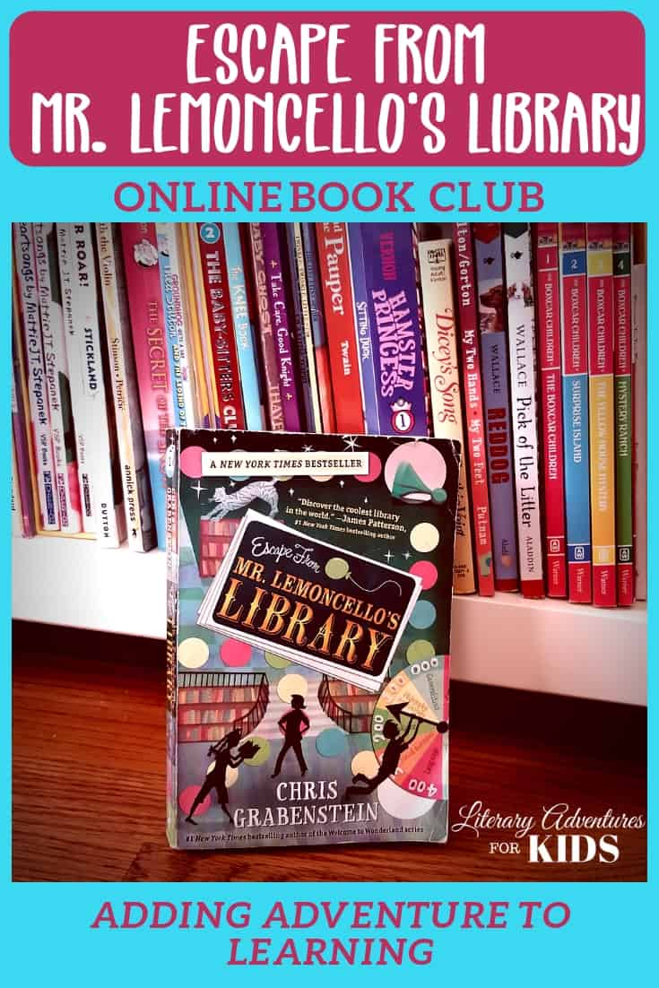 In this course, Escape from Mr. Lemoncello\'s Library Online Book Club for kids, we\'ll learn history, art, literary references, games & more. We will experience parts of the book through hands-on activities. And we\'ll have a party school to celebrate Mr. Lemoncello and his crazy games. Join us on an adventure into this fantastical tale about a boy and his escape from the coolest library in the world. #onlinebookclub #homeschool #la4k