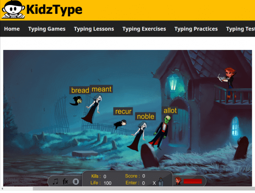 KidzType Vampire Hunter Free Typing Games
