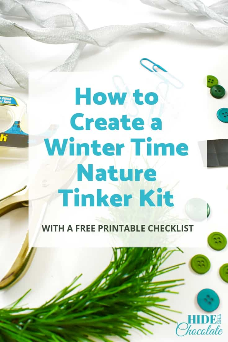 How to Create a Winter Time Nature Tinker Kit PIN