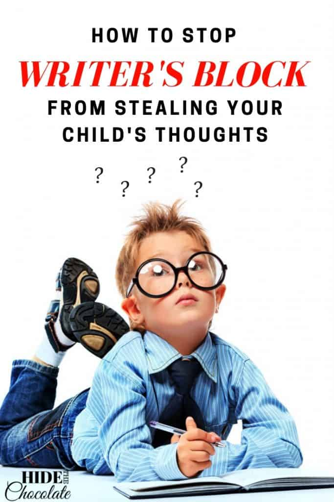 How to Stop Writer's Block from Stealing Your Child's Thoughts PIN