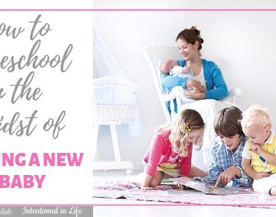 How to Homeschool in the Midst of Having a New Baby Featured