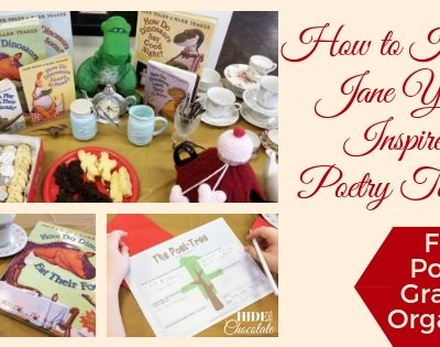 How to Host a Jane Yolen Inspired Poetry Teatime ~ Free Poetry Graphic Organizer