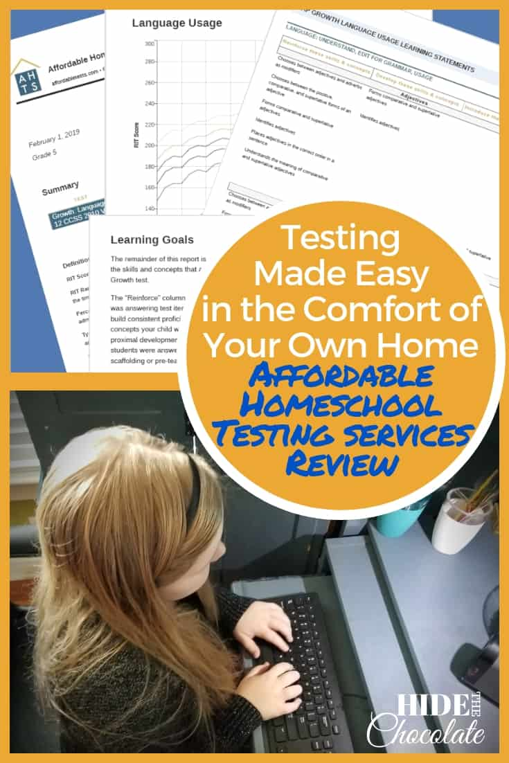 Testing Made Easy in the Comfort of Your Own Home - Affordable Homeschool Testing Services Review PIN