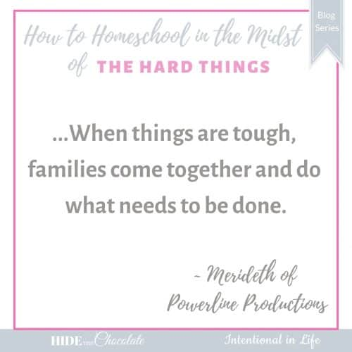 How to Homeschool in the Midst of Caring for Aging Parents Quote