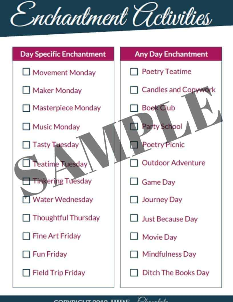 Enchantment Planner Sample