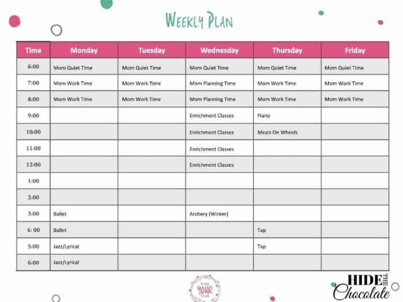 Put Your Homeschool on Autopilot - Weekly Plan