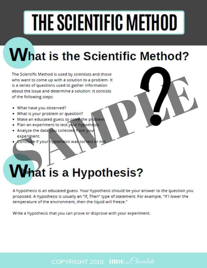Scientific Method Sample 1