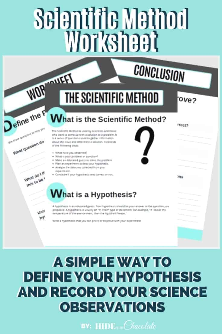 Our Scientific Method Worksheet offers a simple way to record your student\'s hypothesis, observations, and conclusions for their science experiments.