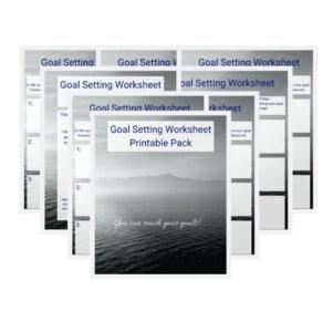 Goal Setting Printable Pack