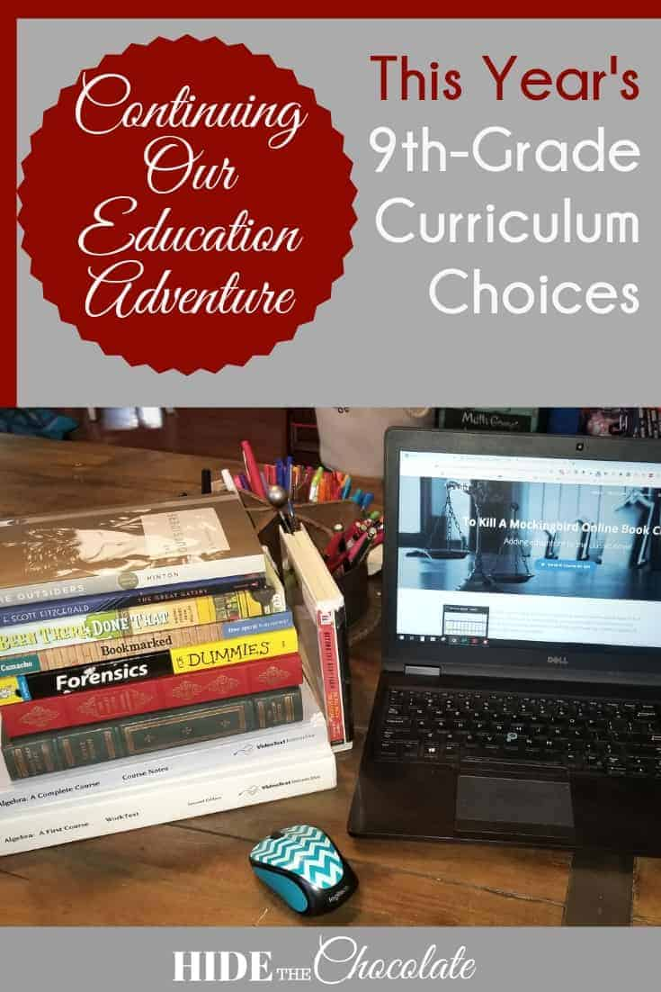 This Year's 9th Grade Homeschool Curriculum Choices
