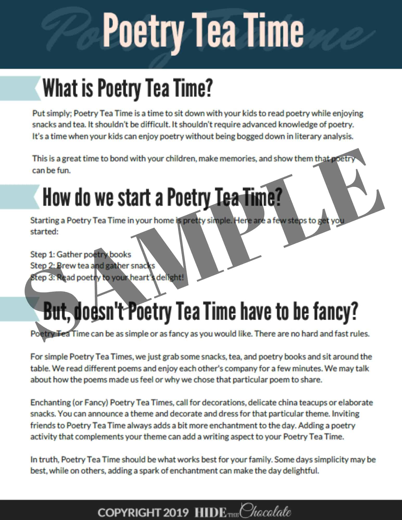 Poetry Teatime Sample