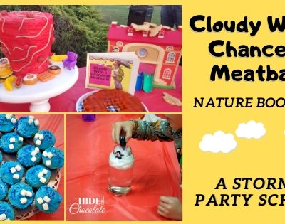 Cloudy With A Chance of Meatballs Nature Book Club ~ A Stormy Party School