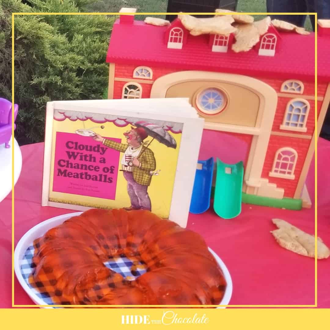 Cloudy with a Chance of Meatballs Nature Book Club-Jello Mold and School with a Pancake