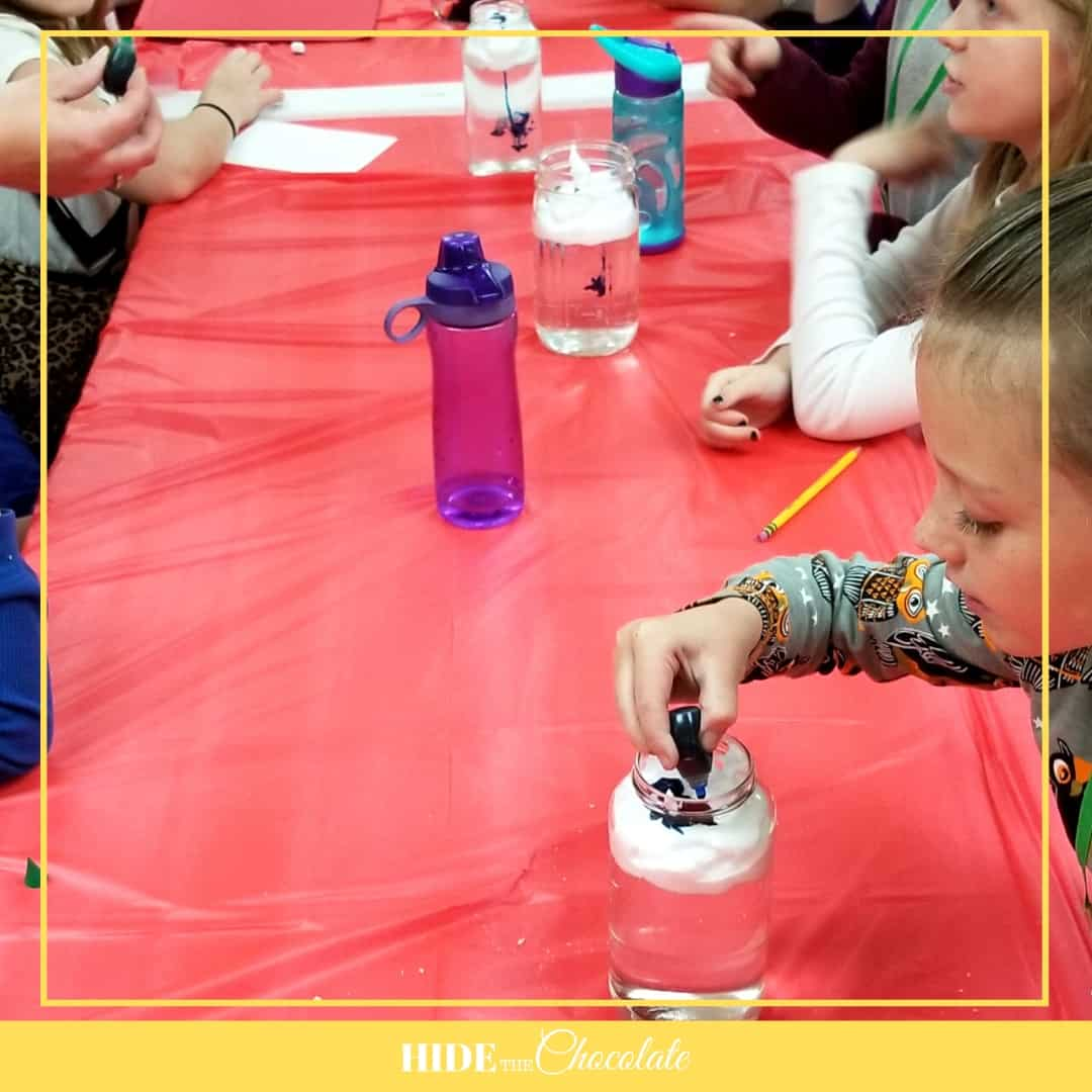 Cloudy with a Chance of Meatballs Nature Book Club-Rain Experiment in Class
